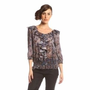 Ted Baker London Sheer Butterfly Print Blouse 2